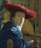 Johannes Vermeer «Fanciulla con cappello rosso», National Gallery of Art, Washington, Usa