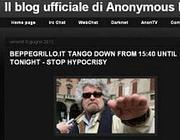 L'immagine del comunicato postato sul blog ufficiale di Anonymous Italia poi rimosso