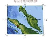 La mappa della zona colpita dal sisma
