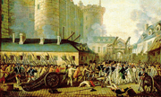 Un ritratto della presa della Bastiglia: per Tocqueville, la Rivoluzione francese non fu generata da un'era di crisi, ma di prosperità
