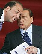 Berlusconi e Alfano (Ansa)