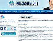 L'home page del sito Forzasilvio.it