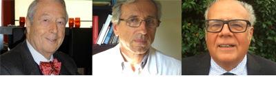 Gli esperti che rispondono ai lettori sul forum Alimentazione del bambino: da sinistra Salvioli, Faldella, Corvaglia