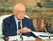 Giorgio Napolitano (Ansa/Giandotti)