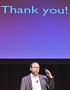 Il fondatore di Wikipedia Jimmy Wales (Afp)