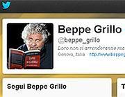 La pagina di Grillo su Twitter