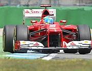 Alonso in azione in Germania (Ap/Probst)