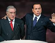 Dell'Utri e Berlusconi (Ansa)