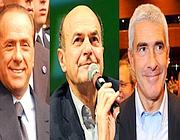 Berlusconi, Bersani e Casini