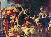 Ulisse con il ciclope Polifemo