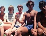 I cinque amici nel 1982...