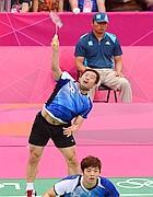 Corea del Sud-Malaysia, doppio maschile (Afp/Berry)