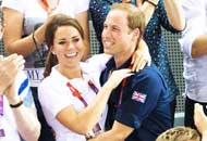 William e Kate, tifo scatenato ai Giochi