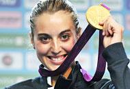 Jessica Rossi manca un piattello soloMa � abbastanza per centrare l'oro olimpico