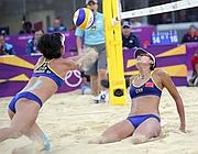 Le cinesi del beach volley (Ap)