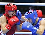 Il combattimento tra Taylor, a sinistra, e Ochigava (Reuters/Sagolj)