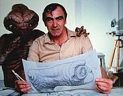 Rambaldi con E.T. (Ansa)