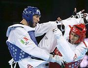 Mauro Sarmiento in azione contro Nicolas Garcia Hemme (Ap/Han Guan)