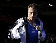 Cammarelle scherza scendendo dal ring (Reuters/Sezer)