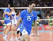 Emanuele Birarelli festeggia il bronzo nella pallavolo
