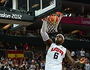 LeBron James, uomo di punta del quintetto Usa