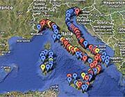 La mappa del mare inquinato