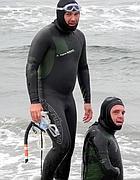 Philippe Croizon (a destra) con Arnadu Chassery (Afp/Filleux)