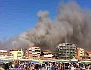 Le immagini dell'incendio a Marina di Grosseto