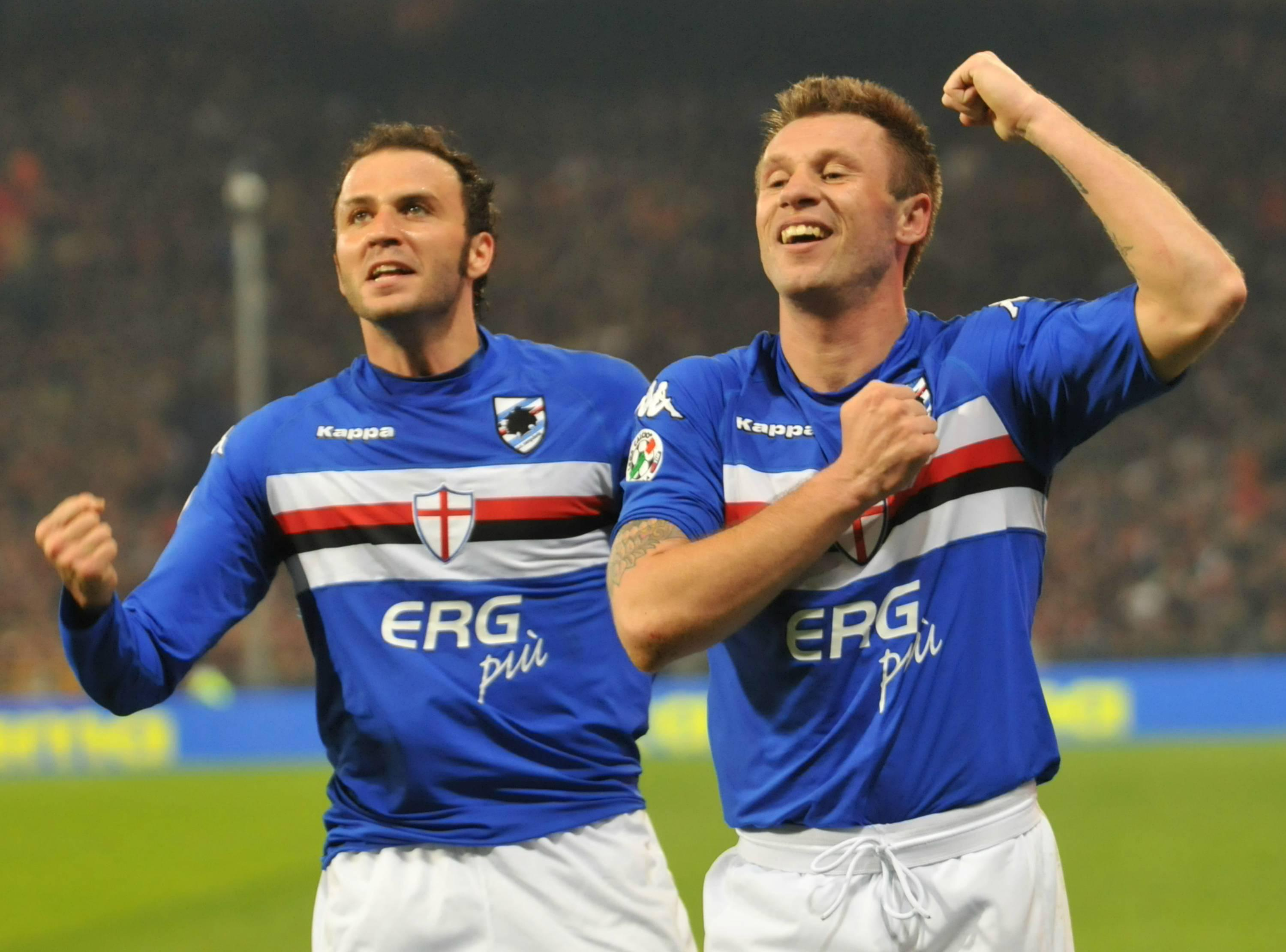 Pazzini e Cassano ai tempi della Sampdoria