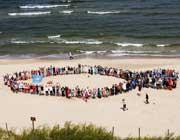 Ocean 2012 sulle rive del mar Baltico in Polonia