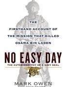 La copertina di 'No easy day'