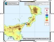L'epicentro del terremoto dal sito di INGV