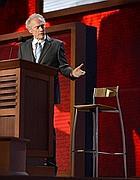 Clint Eastwood finge di intervistare Obama (ma la sedia è vuota) - (Epa)