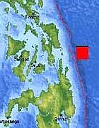 Le Filippine e l'epicentro del terremoto (da Usgs)
