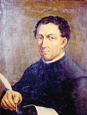 L'insigne umanista toscano Poggio Bracciolini (1380-1459), appassionato di testi antichi, che fu a lungo segretario apostolico presso la Curia pontificia. Fu lui a scoprire il manoscritto del «De rerum natura» di Lucrezio