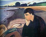 �Malinconia� (particolare), un'opera del pittore norvegese Edvard Munch (1863-1944)