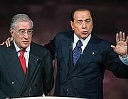 Marcello Dell'Utri e Silvio Berlusconi (Ansa)