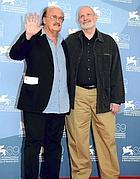 Brian De Palma con Pino Donaggio, autore delle musiche di «Passion»