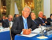 Mario Monti a Cernobbio (Maule/Fotogramma)