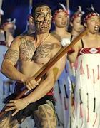 Un «guerriero» maori in una celebrazione
