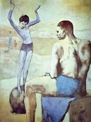 Un dipinto del 1905 «Gli acrobati» (o «La bambina sulla palla») di P. Picasso