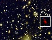 Nel riquadro la giovane galassia appena scoperta (Nasa)