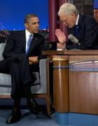 Obama nello studio televisivo di David Letterman 