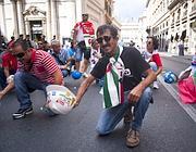 Lavoratori Alcoa durante una manifestazione a Roma (Corbis)
