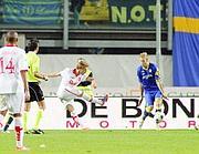 Il gol-vittoria di Andrea Raimondi (LaPresse/Garbuio)
