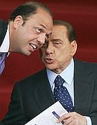 Alfano e Berlusconi (Ansa/Schiavella)