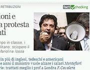 Il logo del fact checking abbinato ad una notizia di Corriere.it