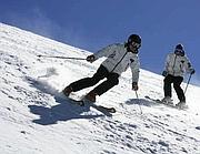 Sciatori in pista
