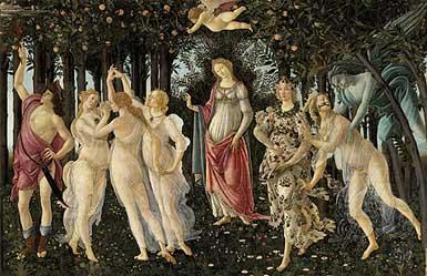Sandro Botticelli, «La Primavera», Firenze, Uffizi