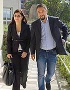 Giancarlo Cancelleri e la moglie Francesca (Fotogramma)